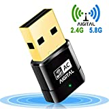Aigital WLAN Adapter, WiFi Stick 600Mbps Wireless...