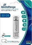 MediaRange USB Stick 32GB Silber MR936 Combo Flash...