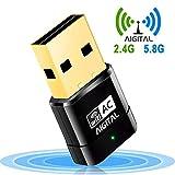 Aigital WLAN Adapter, WiFi Stick 600Mbps Wireless...