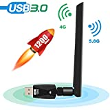Tokenhigh WiFi Adapter 1200Mbps WLAN Adapter mit...