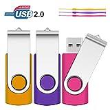 8GB USB Stick, SRVR 3 Stück Speicherstick...