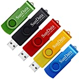 SunData 5 Stück 32GB USB-Sticks USB 2.0...